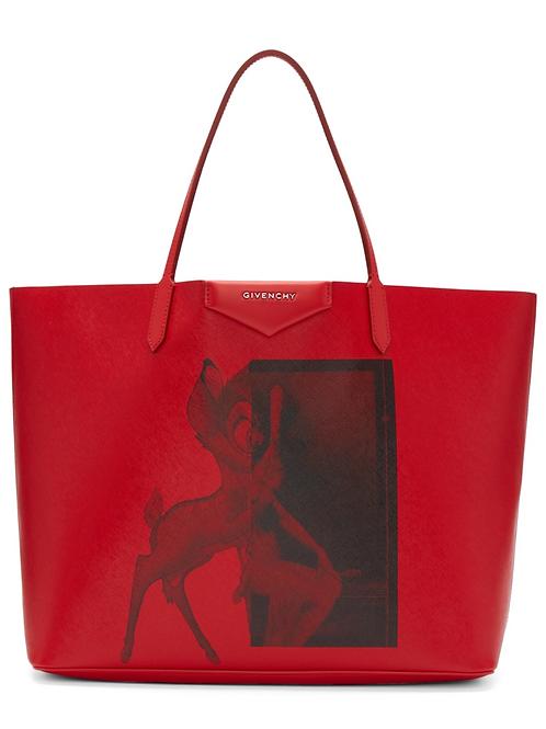 Givenchy Red Large Bambi Antigona Tote