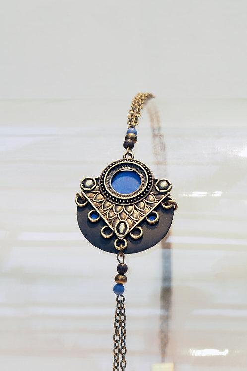 Headband Jaïpur Bleu/Bronze