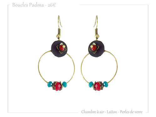 Boucles Padma rouge