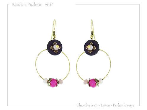 Boucles Padma Fushia