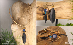 Shanti: Kaki - Cobalt - Turquoise