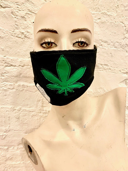 The Mary Jane Mask:  Green on Black
