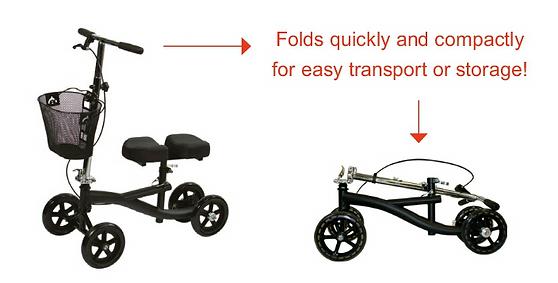 knee walker assembly