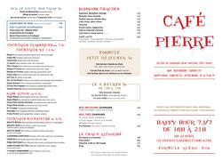Carte Cafe Pierre 3
