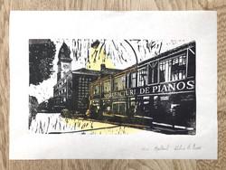 Linogravure par Delphine LB