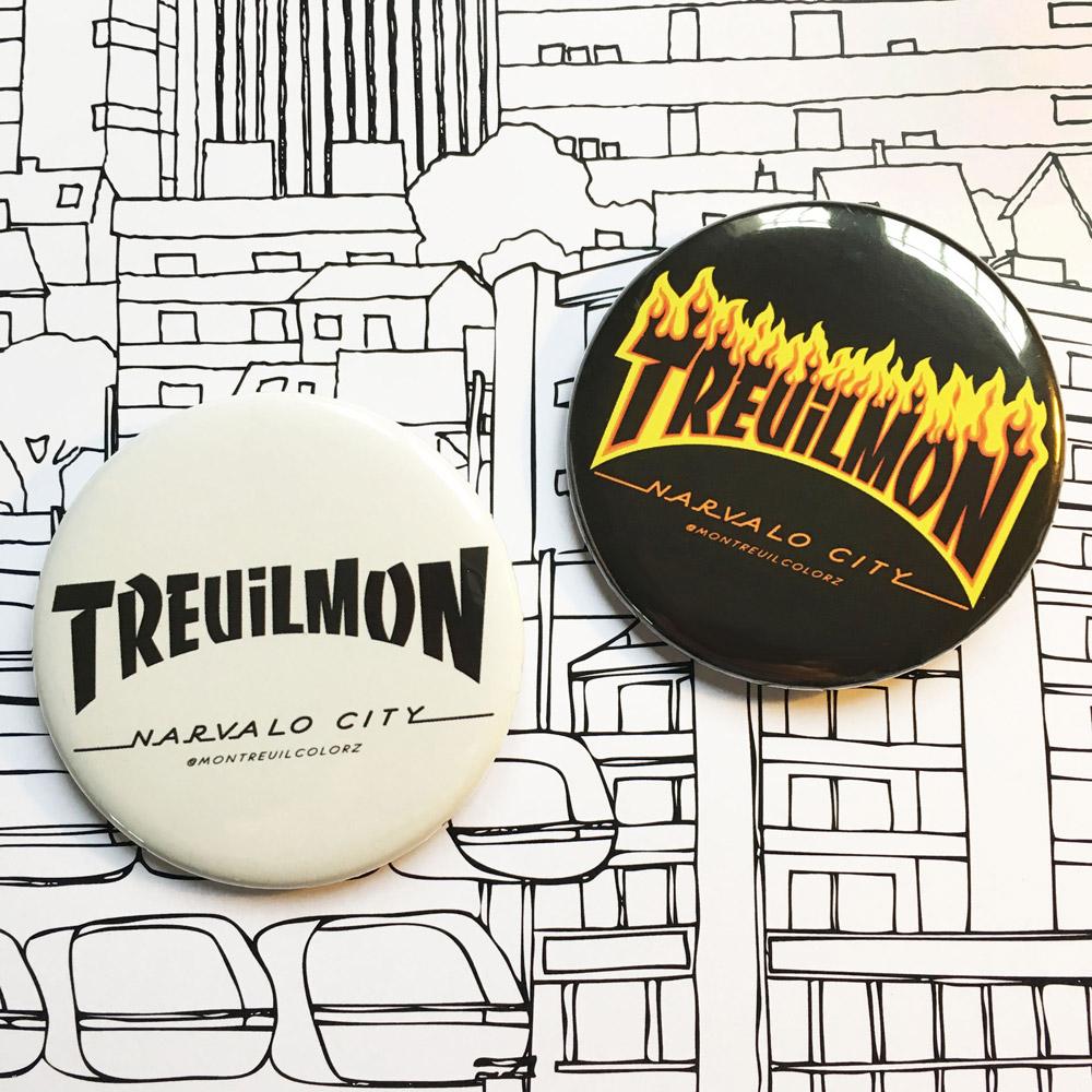 Badge Treuilmon par Montreuilcolorz