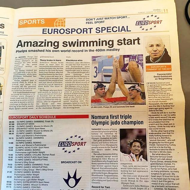 """Programme TV quotidien Eurosport publié tous les jours pendant les Jeux avec valorisation de la plateforme de diffusion locale """"Nova"""""""