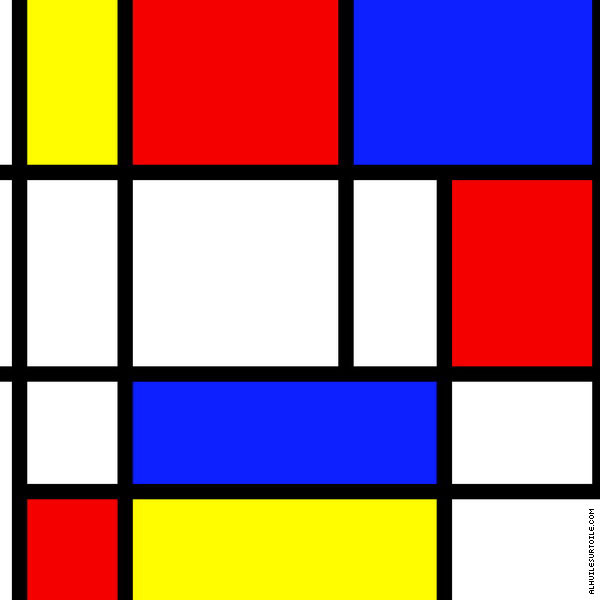 Mondrian nous inspire pour l'aspirateur robot