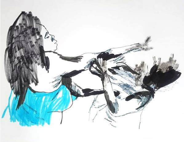 Expo Elle sur Elle Dessins par Drawing by Marine Luszpinski