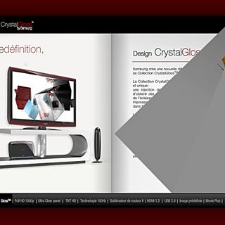 Dévleoppement de brochures interactives pour cible B²B pour plusieurs gammes de produit Samsung