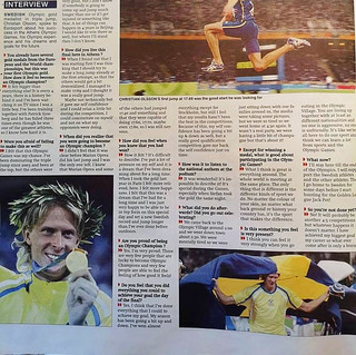 Interviews fait par Eurosport avec logo