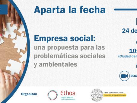 Webinario- Empresa social: una propuesta para las problemáticas sociales y ambientales