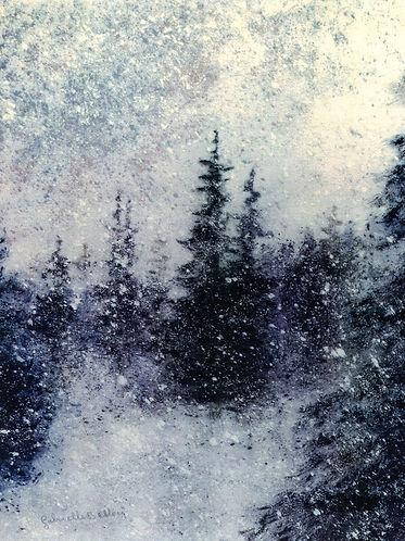 Gabrielle Bellocq Sapins sous la neige P