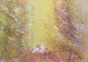1992 La famille et les arbres roses