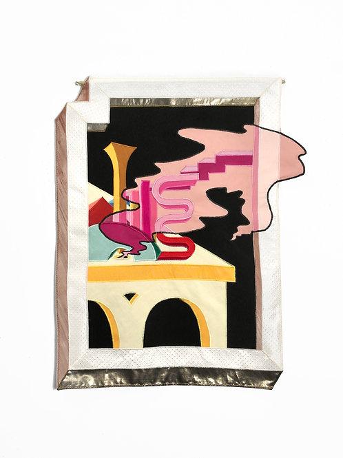 """Smoke and Mirrors"" (2020) // Original Textile Artwork"