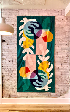 Lawbird wall hanging, 2019