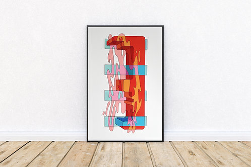 'Dimension 1' 11x17 Art Print