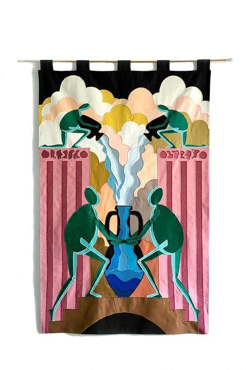 """Pillars"" (2020) // Original Textile Artwork"