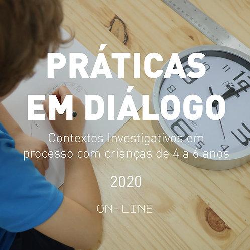 Práticas em diálogo ON-LINE - jul/ago