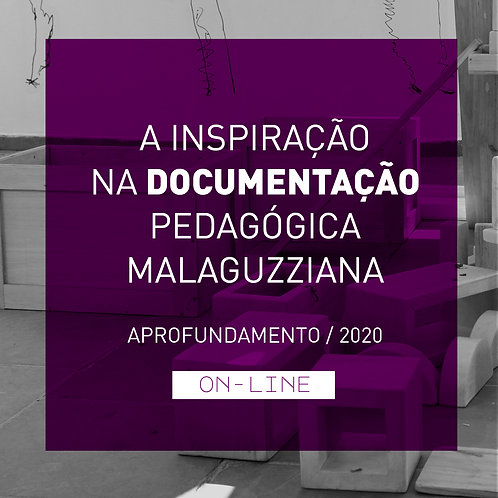 A inspiração na documentação pedagógica Malaguzziana - aprofundamento ON-LINE