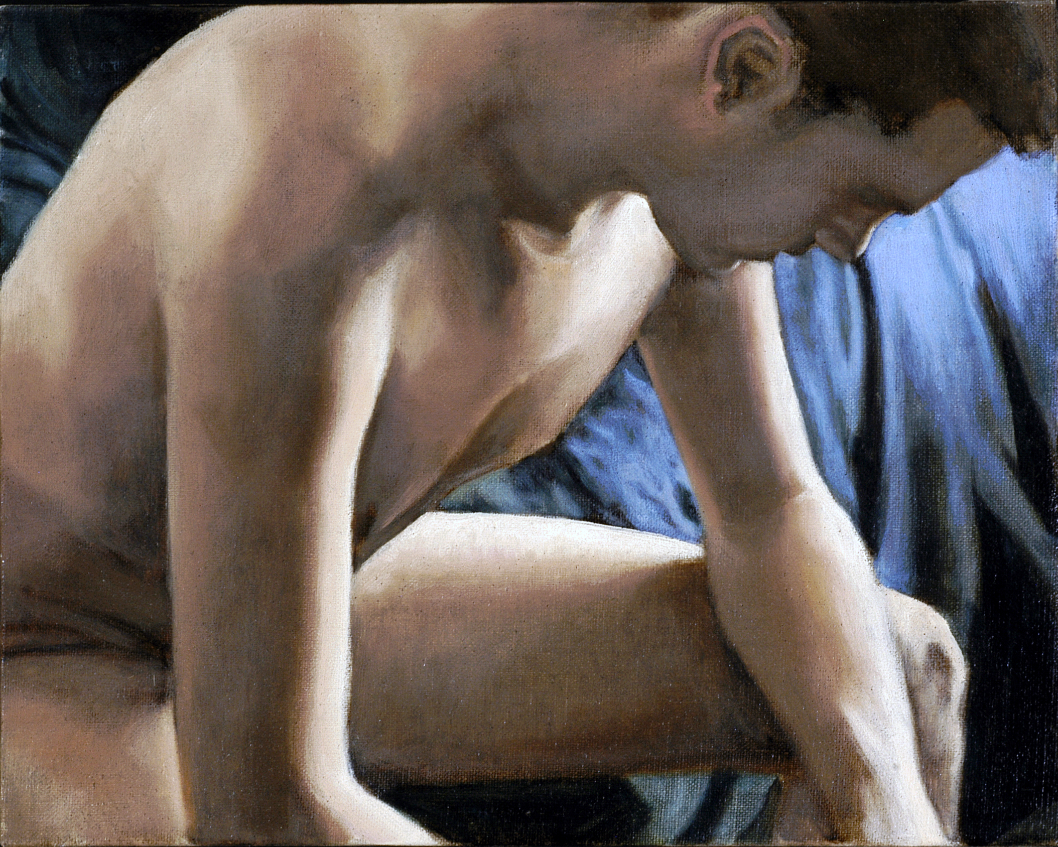 Sitting Male Nude