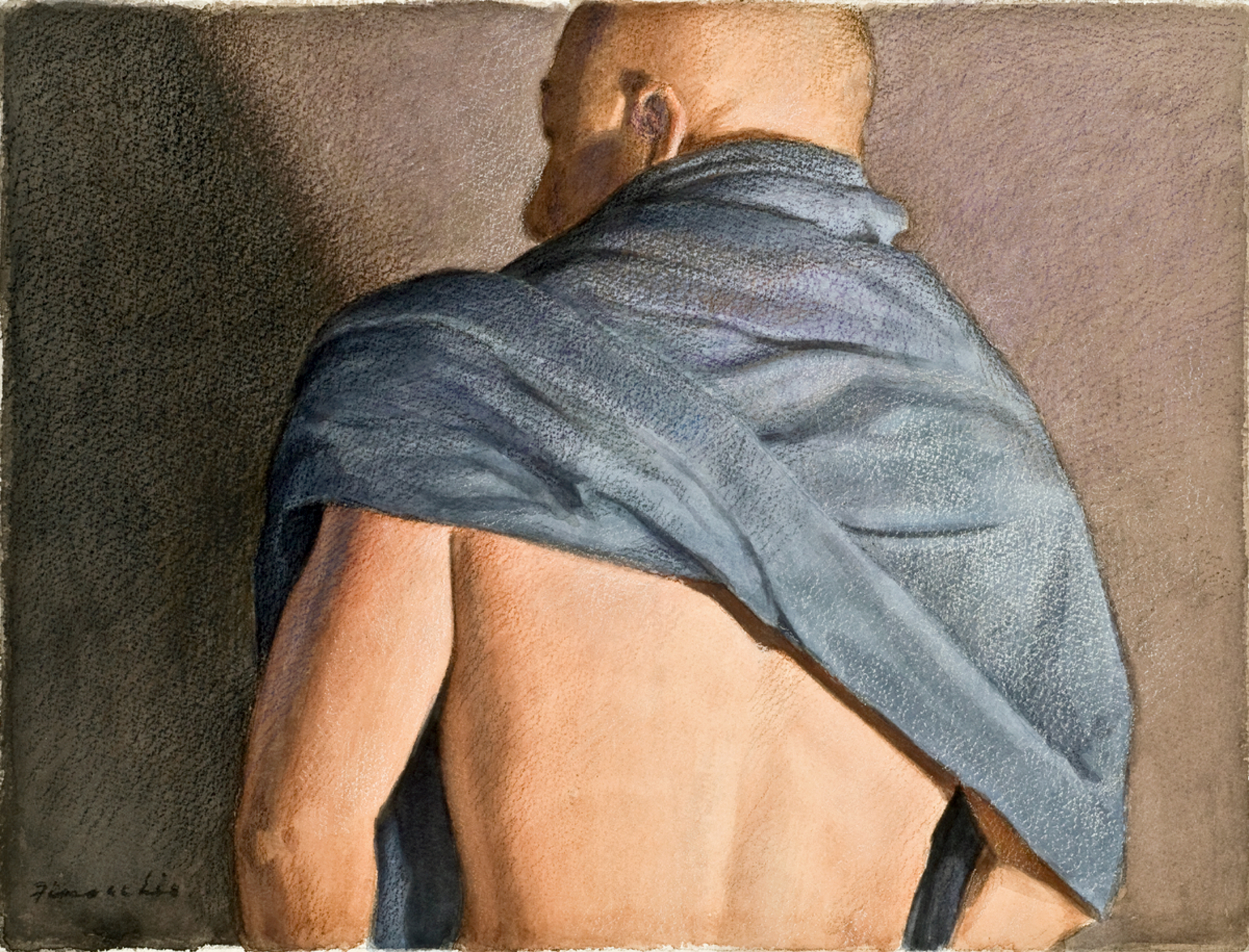 Figure With Blue Drape