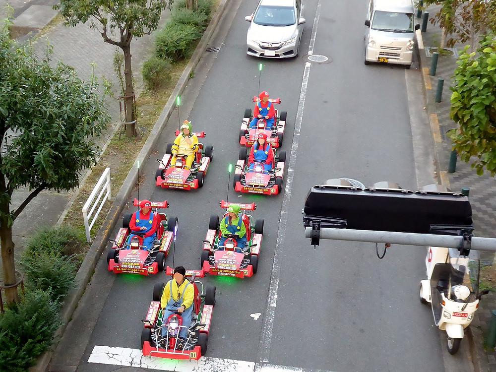 Japanese real life Mario Kart street racing experience