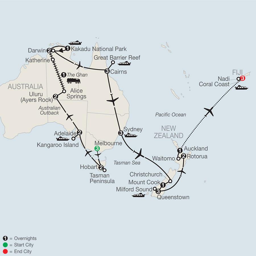 30 day Australia, New Zealand, and Fiji Adventure!