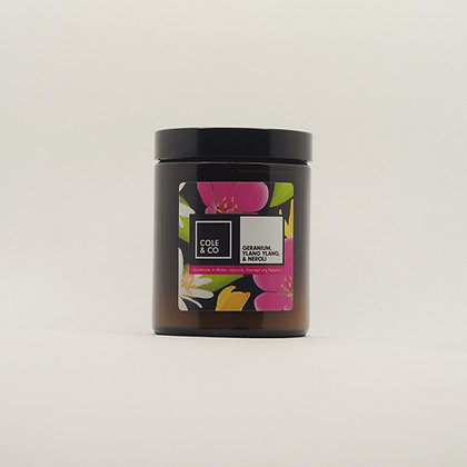 Geranium, Neroli & Ylang Ylang Candle in a Jar
