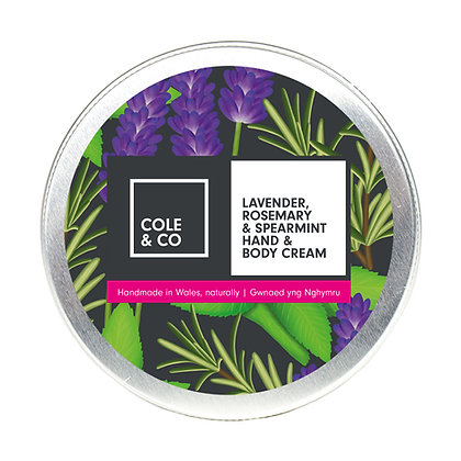 Lavender, Rosemary & Spearmint Hand & Body Cream