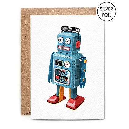 Retro Robot Card