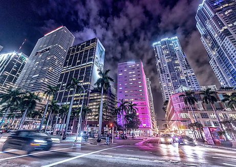 Streets and Buildings of Downtown Miami