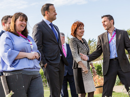 An Taoiseach meets local schools and clubs at Airfield Estate
