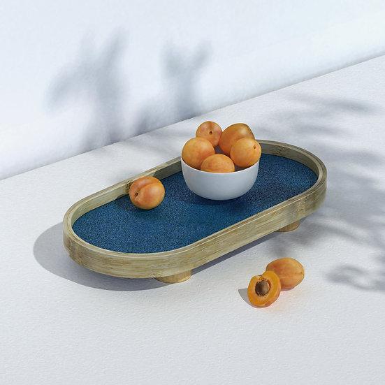 Podium Tray Oval L: Handmade Bamboo Trays