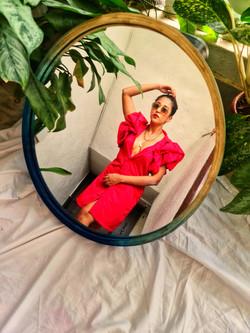 Bamboo Mira Round Mirror