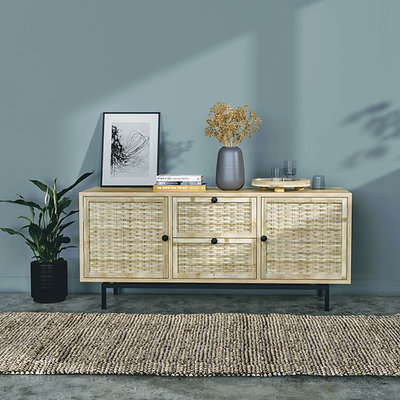 Hive Console: Eco-conscious TV Cabinet, Handmade TV Unit with storage
