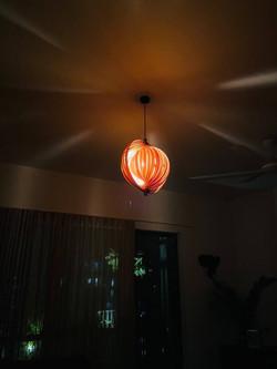 Bamboo Seashell Pendant Lamp