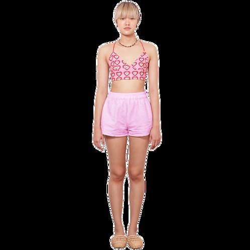 (Bottom) Pink Check Easy Shorts