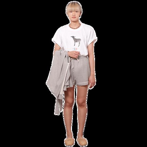(SP) Grey Seersucker Short Pants