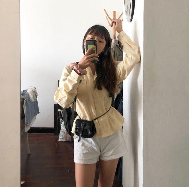 WlW Lemon Cream + Leather Bag