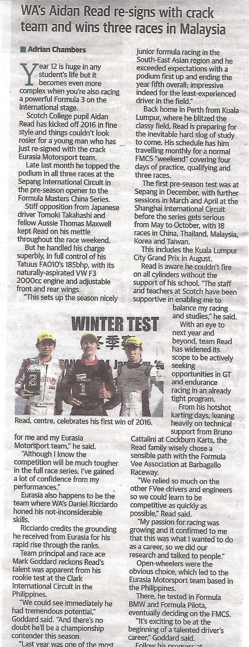 West Australian Newspaper Insert