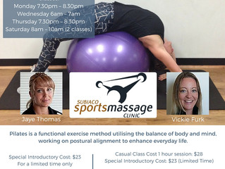 Pilates Launching 9th March 2016