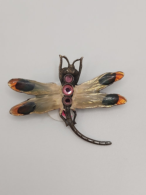 Vintage Dragonfly brooch 1.5 inches
