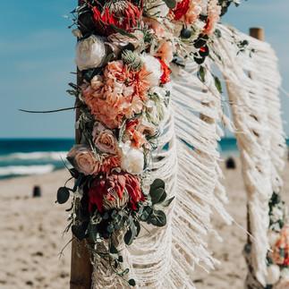 Ocean city Beach Wedding  Barefoot Beach