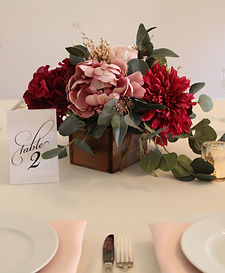 Blush ad Burgandy Wedding Decorations