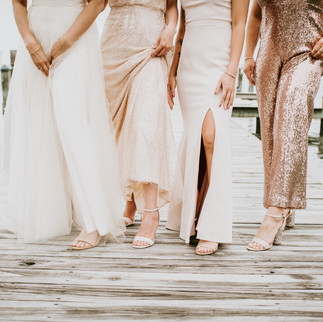 Ocean City Beach Wedding shoes Barefoot