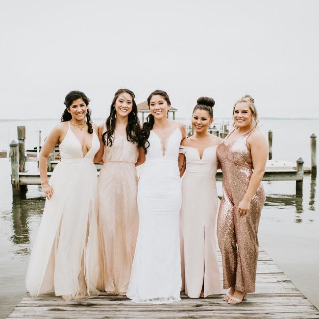 Ocean City Beach Wedding Bridesmaids Bar