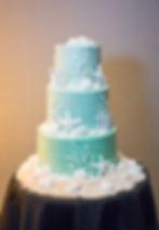 Beach Wedding Cake Aqua