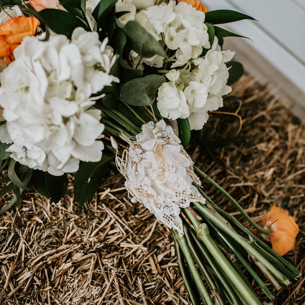 Ocean city Beach Wedding Bouquet Barefoo