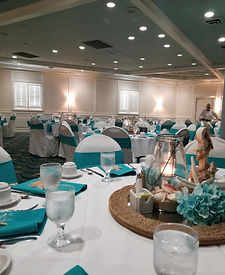 Aqua Coastal Beach Wedding Decorations